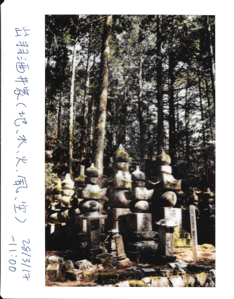 Japanese Buddhism statues in graveyard